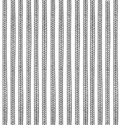 Seamless pattern with stylized black pigtails vector image vector image