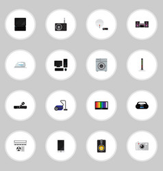 Set of 16 editable home icons includes symbols vector