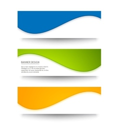 Set of banners for your design vector image vector image