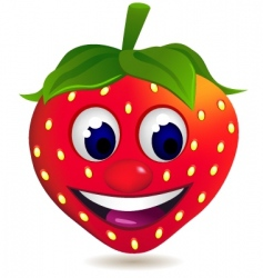 strawberry cartoon vector image vector image