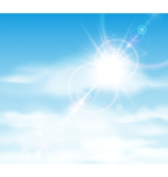 Sun is shining behind the clouds vector image