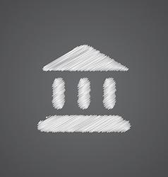 tribunal sketch logo doodle icon vector image