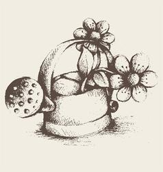 vintage gardening utensils vector image