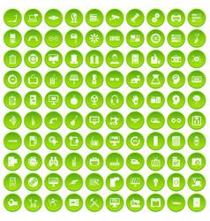 100 set green circle vector