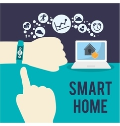 Smart home house icon set vector