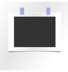 blank photo frame template design mockup vector image