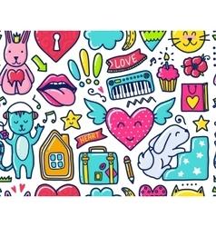 Doodle cute Pattern vector image