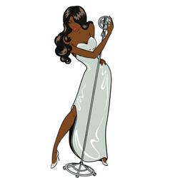 Sexy jazz singer comics style vector