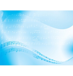 Light blue abstract background - music notes vector