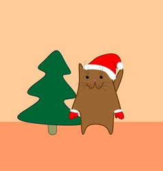 Holiday cat vector
