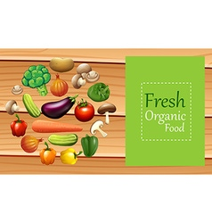 Mixed vegetables on poster vector