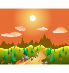 Real landscape vector