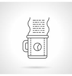 Work coffee icon flat line design icon vector image