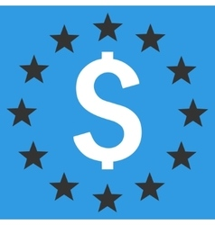 Dollar stars flat icon vector