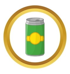 Aluminum cans for beer icon vector