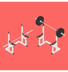 Barbell squat stand vector
