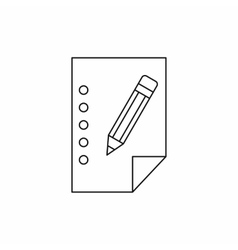 Blank sheet of paper and a pencil icon vector image