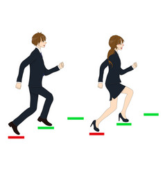 business people running to the top vector image