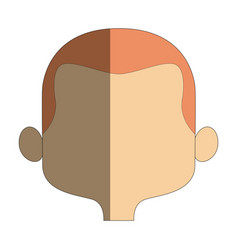 Cartoon man face avatar character male cute vector