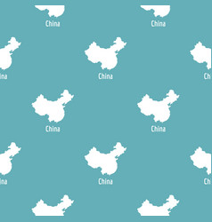 china map in black simple vector image