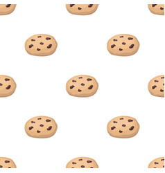 Chocolate chip cookies icon in cartoon style vector