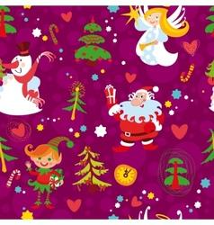 christmas seamless wallpaper pattern vector image vector image