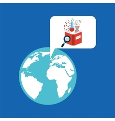 concept science lab search icon graphic vector image vector image