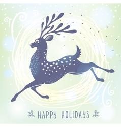 Deer stylized Christmas vector image vector image
