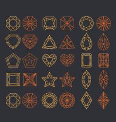 Diamond shapes set vector