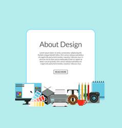 digital art design icons pile vector image vector image