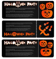 flyer invitation to celebrate halloween vector image vector image