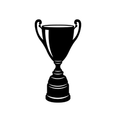 Golden trophy cup icon simple style vector image