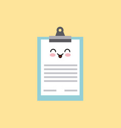 Kawaii medical report icon vector