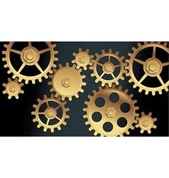 machine gears vector image