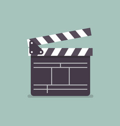 Movie clapper in flat style vector