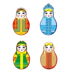 Nested dolls set matryoshka with different vector