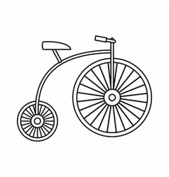 Penny-farthing icon outline style vector image