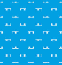 railway pattern seamless blue vector image vector image