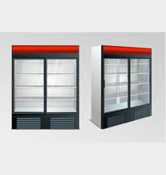 Refrigerator showcase kitchen vector