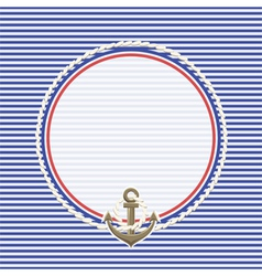 Sea background and anchor rope vector