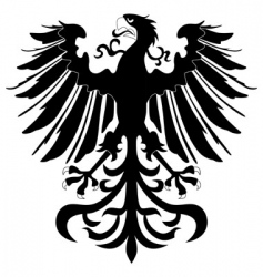silhouette of heraldic eagle vector image