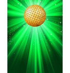 Sparkling disco ball vector image