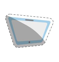 tablet technology cut line vector image