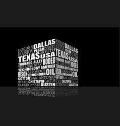 texas words cloud vector image