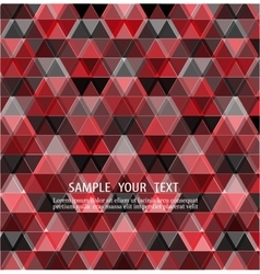 Triangles red background design vector