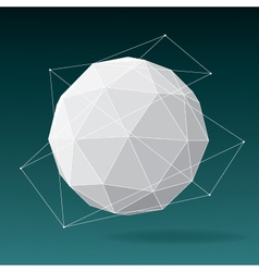 White globe geometrical background vector image vector image