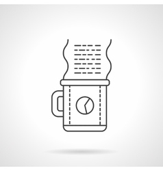Work coffee icon flat line design icon vector image