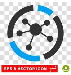 Connections Diagram Eps Icon vector image