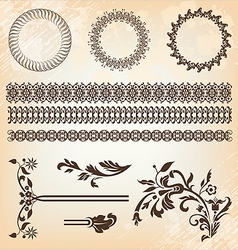 set of beautiful design elements vector image