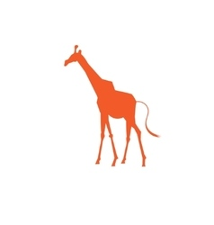 Icon bright giraffe vector